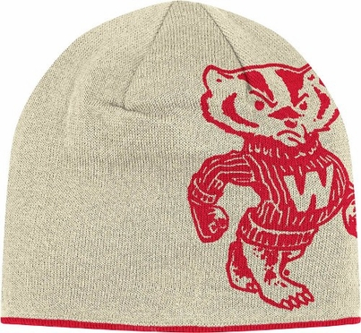 Wisconsin Reversible Vault Logo Knit Hat