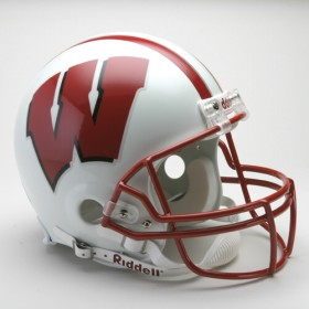 Wisconsin Riddell Full Size Authentic Helmet