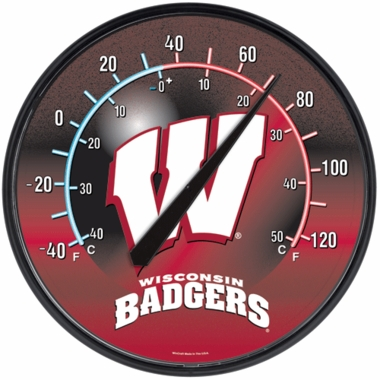 Wisconsin Round Wall Thermometer