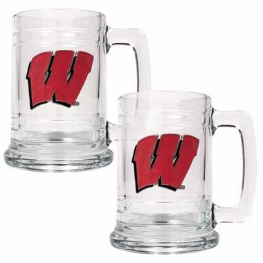 Wisconsin Set of 2 15 oz. Tankards