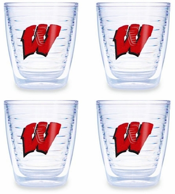 Wisconsin Set of FOUR 12 oz. Tervis Tumblers