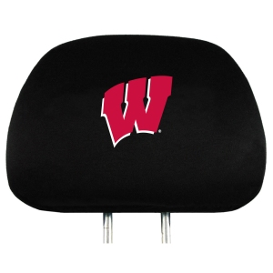 Wisconsin Set of Headrest Covers