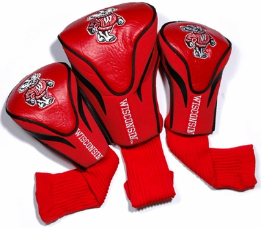 Wisconsin Set of Three Contour Headcovers