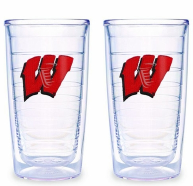Wisconsin Set of TWO 16 oz. Tervis Tumblers