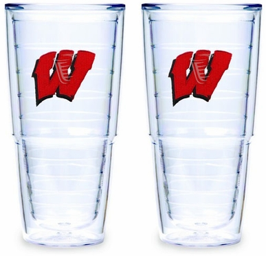 Wisconsin Set of TWO 24 oz. Tervis Tumblers