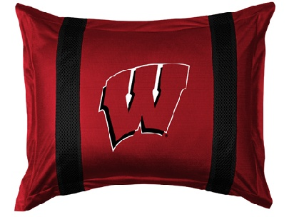 Wisconsin SIDELINES Jersey Material Pillow Sham