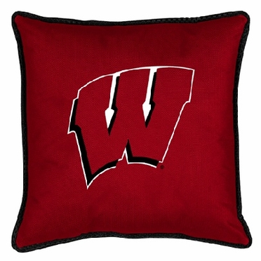 Wisconsin SIDELINES Jersey Material Toss Pillow