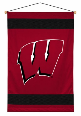 Wisconsin SIDELINES Jersey Material Wallhanging