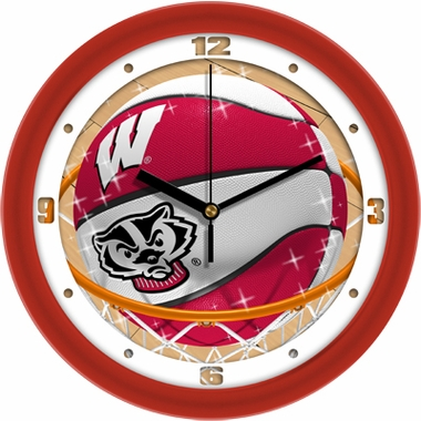 Wisconsin Slam Dunk Wall Clock