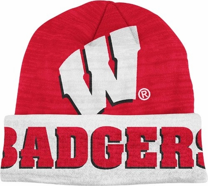Wisconsin Slanted Logo Cuffed Knit Hat
