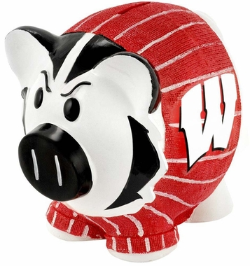 Wisconsin Badgers Piggy Bank - Thematic Small