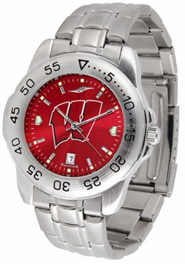 Wisconsin Sport Anonized Men's Steel Band Watch