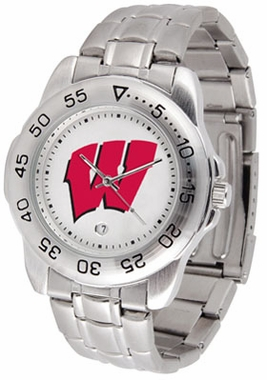 Wisconsin Sport Men's Steel Band Watch