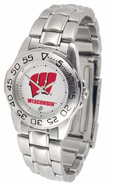 Wisconsin Sport Women's Steel Band Watch