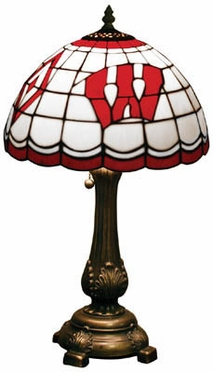 Wisconsin Stained Glass Table Lamp