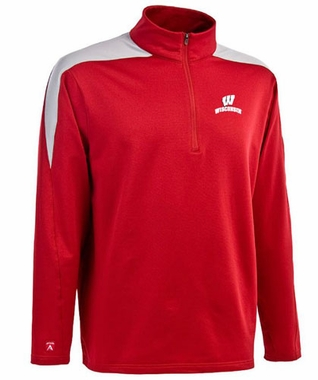 Wisconsin Mens Succeed 1/4 Zip Performance Pullover (Team Color: Red)