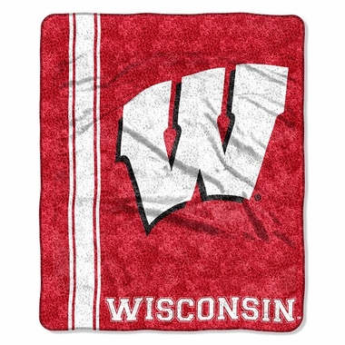 Wisconsin Super-Soft Sherpa Blanket