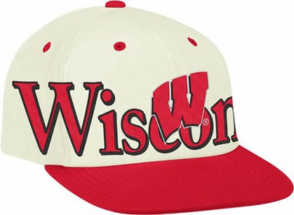 Wisconsin Team Name and Logo Snapback Hat