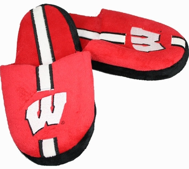 Wisconsin Team Stripe Slide Slippers