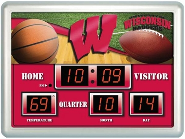 Wisconsin Time / Date / Temp. Scoreboard