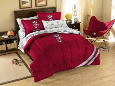 Wisconsin Twin Comforter and Shams Set