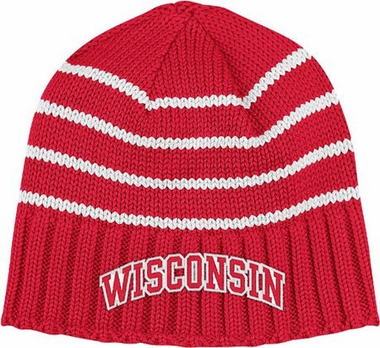Wisconsin Vault Striped Cuffless Knit Hat