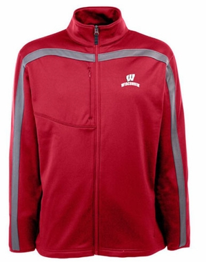 Wisconsin Mens Viper Full Zip Performance Jacket (Team Color: Red)