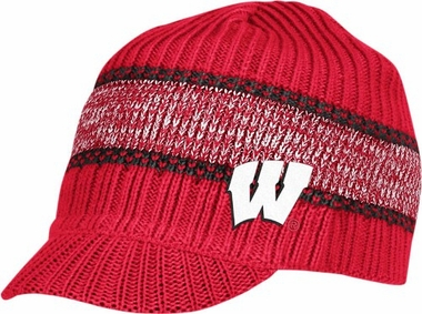 Wisconsin Visor Knit Hat