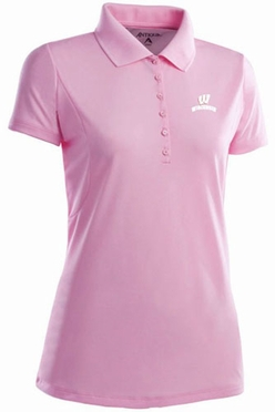 Wisconsin Womens Pique Xtra Lite Polo Shirt (Color: Pink)