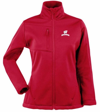 Wisconsin Womens Traverse Jacket (Color: Red)