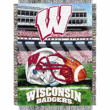 Wisconsin Woven Tapestry Throw Blanket
