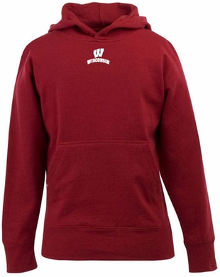 Wisconsin YOUTH Boys Signature Hooded Sweatshirt (Team Color: Red)