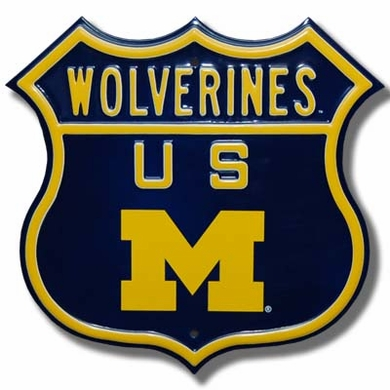 Wolverines / M Route Sign