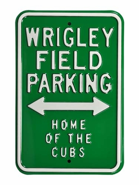Wrigley Field / Home of the Cubs Parking Sign