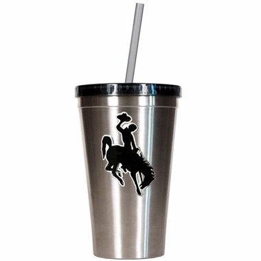 Wyoming 16oz Stainless Steel Insulated Tumbler with Straw