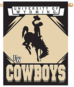 "Wyoming Cowboys 27""x37"" Banner"