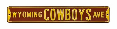 Wyoming Cowboys Ave Street Sign