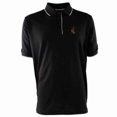 Wyoming Mens Elite Polo Shirt (Color: Black)