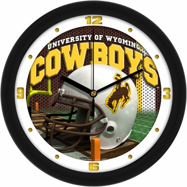 Wyoming Helmet Wall Clock