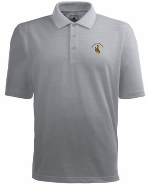 Wyoming Mens Pique Xtra Lite Polo Shirt (Color: Gray)