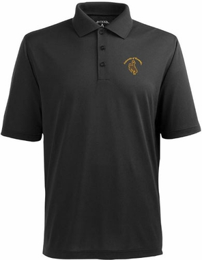 Wyoming Mens Pique Xtra Lite Polo Shirt (Team Color: Black)
