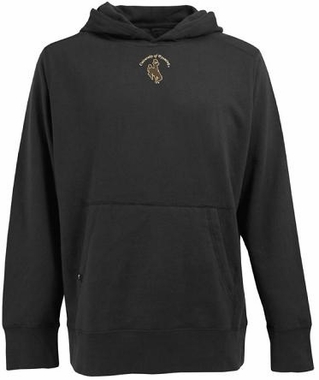 Wyoming Mens Signature Hooded Sweatshirt (Team Color: Black)