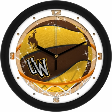 Wyoming Slam Dunk Wall Clock