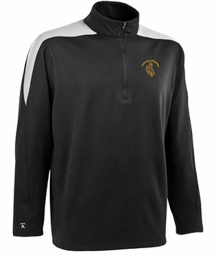 Wyoming Mens Succeed 1/4 Zip Performance Pullover (Team Color: Black)