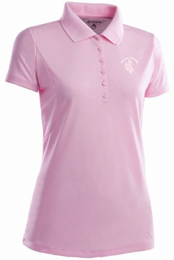 Wyoming Womens Pique Xtra Lite Polo Shirt (Color: Pink)