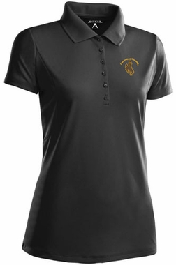 Wyoming Womens Pique Xtra Lite Polo Shirt (Color: Black)
