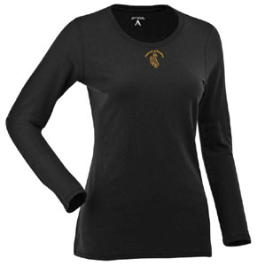 Wyoming Womens Relax Long Sleeve Tee (Team Color: Black) - Large