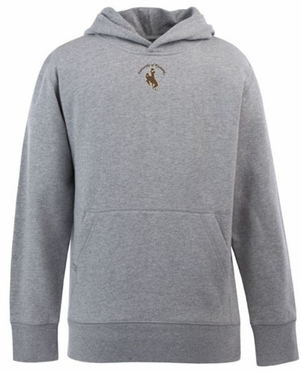Wyoming YOUTH Boys Signature Hooded Sweatshirt (Color: Gray)