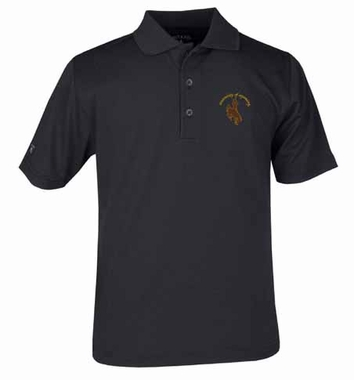 Wyoming YOUTH Unisex Pique Polo Shirt (Team Color: Black)