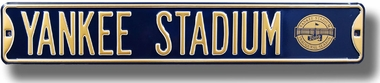 Yankee Stadium (With New Logo) Street Sign